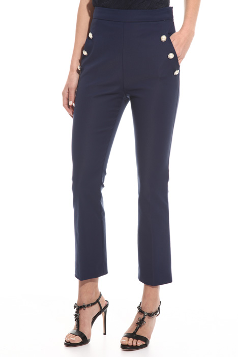 Pearl-style button trousers Intrend