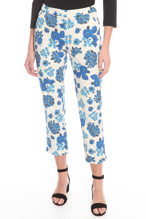 Gabardine capri trousers Intrend