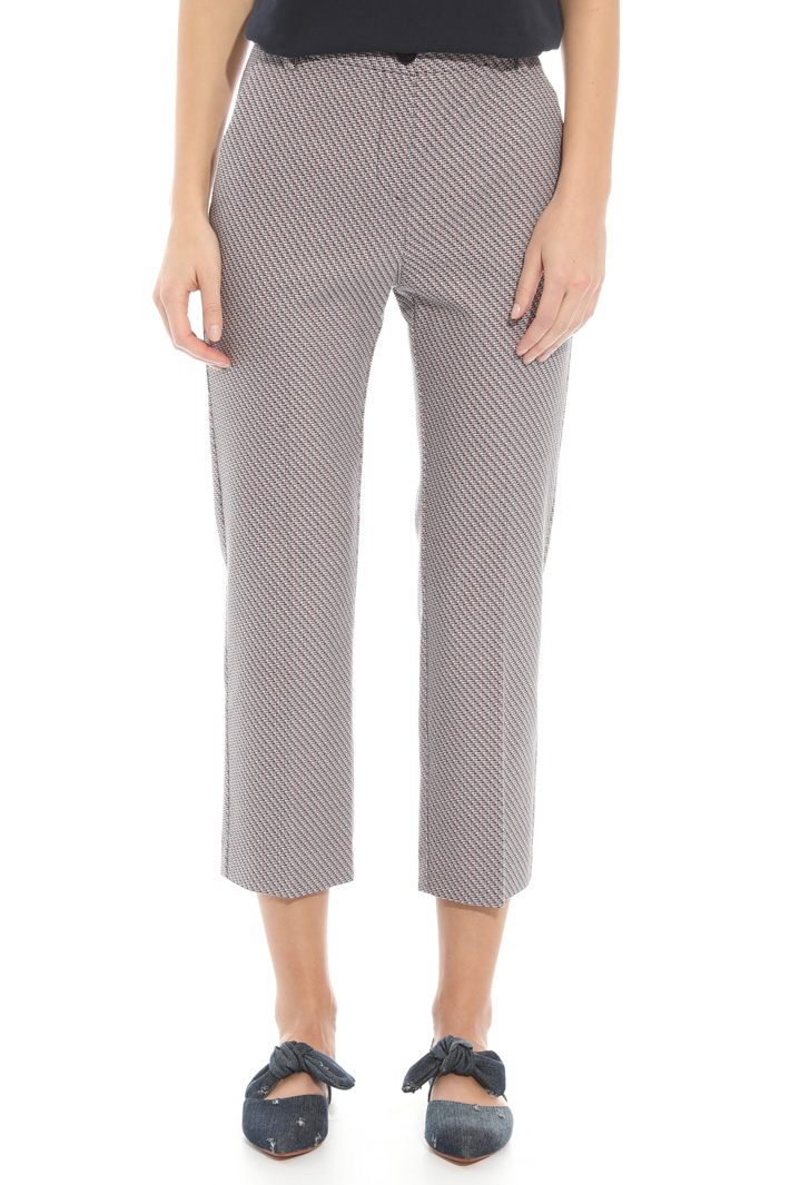 Interwoven fabric trousers Intrend