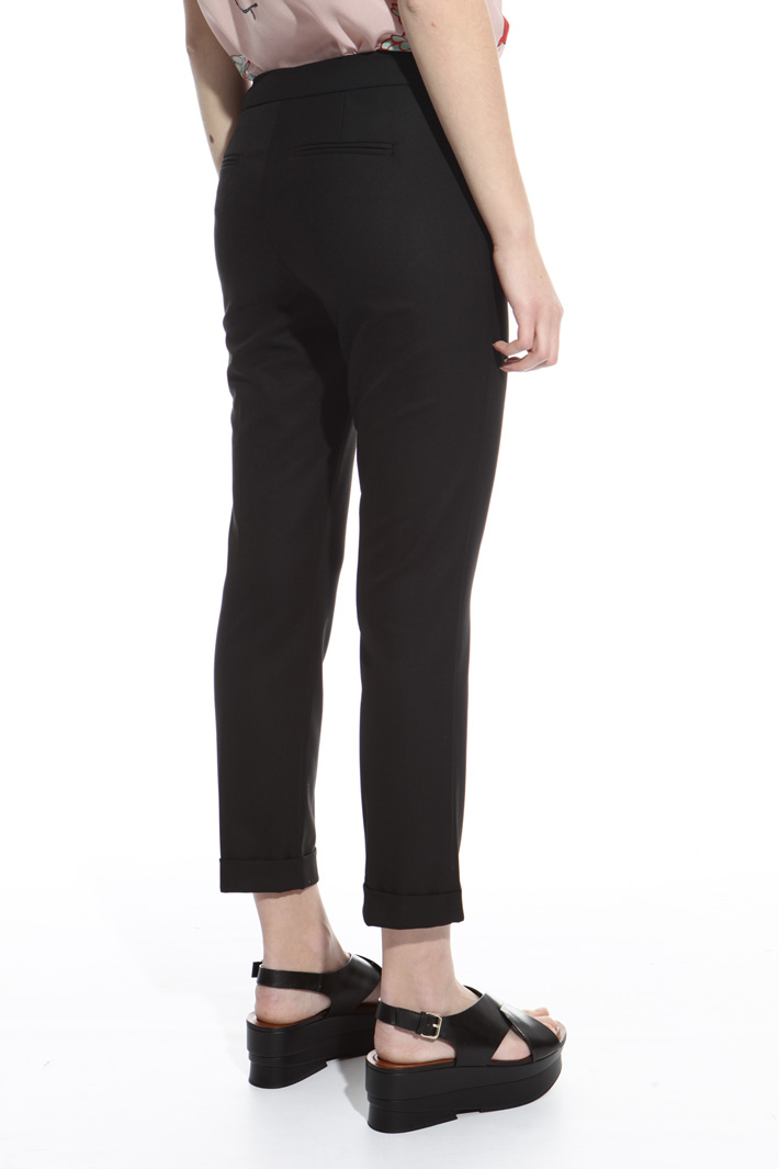 Viscose twill trousers Intrend