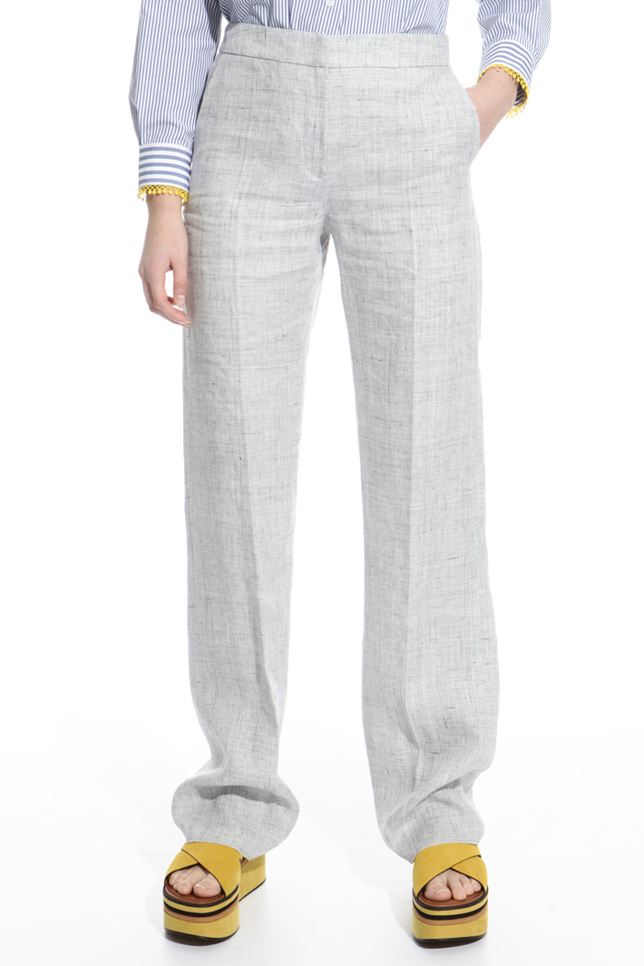 Straight-leg linen trousers Intrend