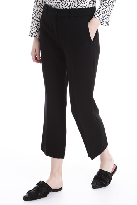 Pantalone cropped in cady Intrend
