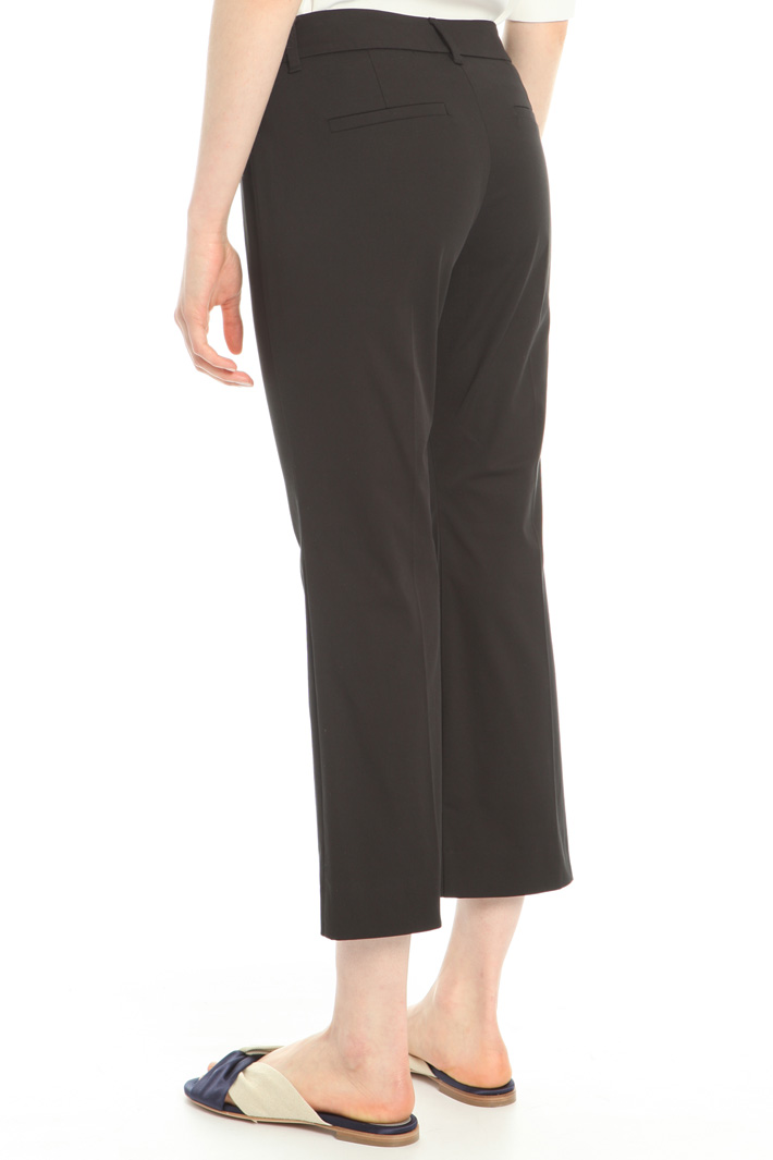 Flared cotton trousers Intrend