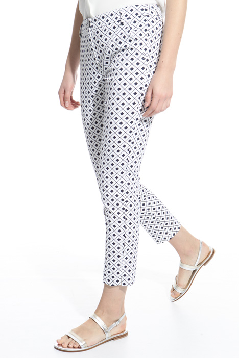Stretch cotton trousers Diffusione Tessile