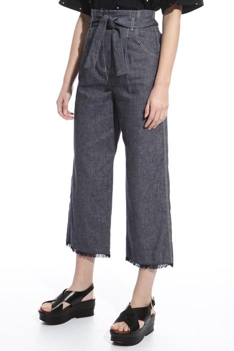 Pantalone sfrangiato vita alta Diffusione Tessile