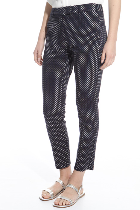 Fitted jacquard trousers Diffusione Tessile