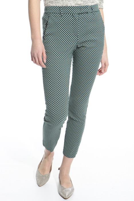 Fitted jacquard trousers Intrend