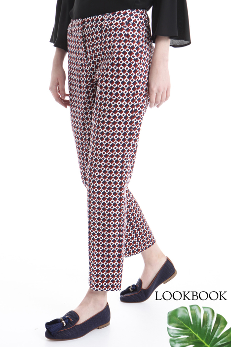 Printed cotton trousers Diffusione Tessile