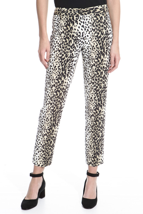 Animalier print trousers Intrend