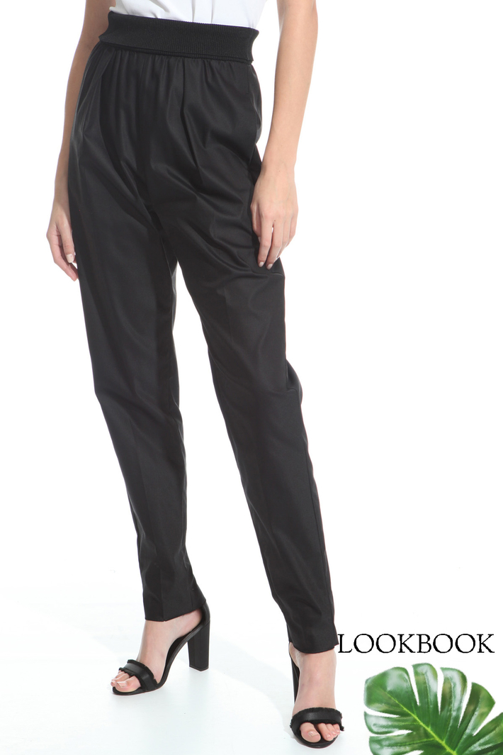 Trousers with elastic band  Intrend