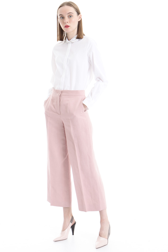 Silk and linen trousers Intrend