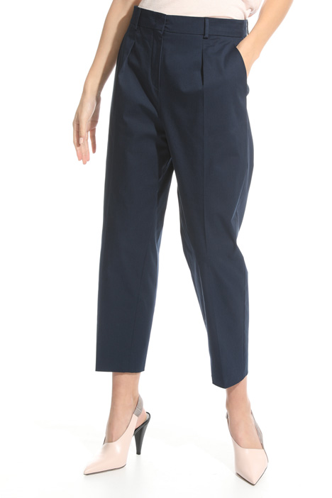 Cropped trousers in gabardine  Diffusione Tessile
