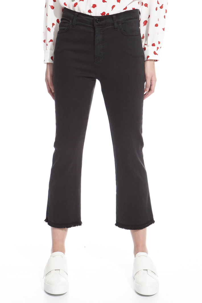 Fitted fringed trousers Diffusione Tessile