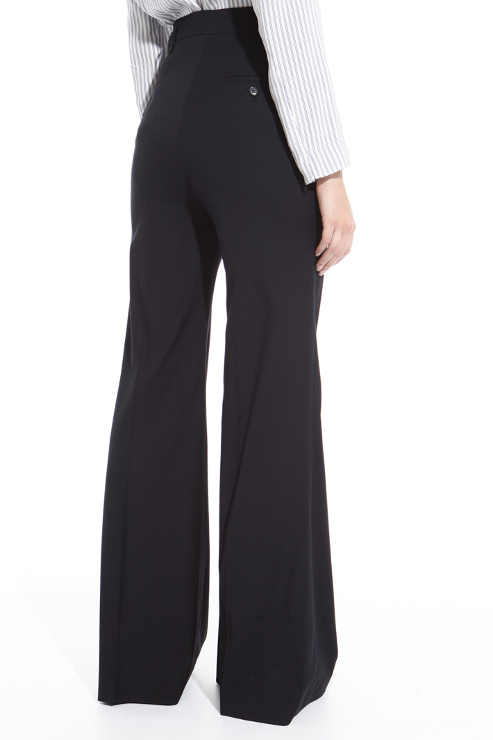 Flared wool blend trousers Intrend
