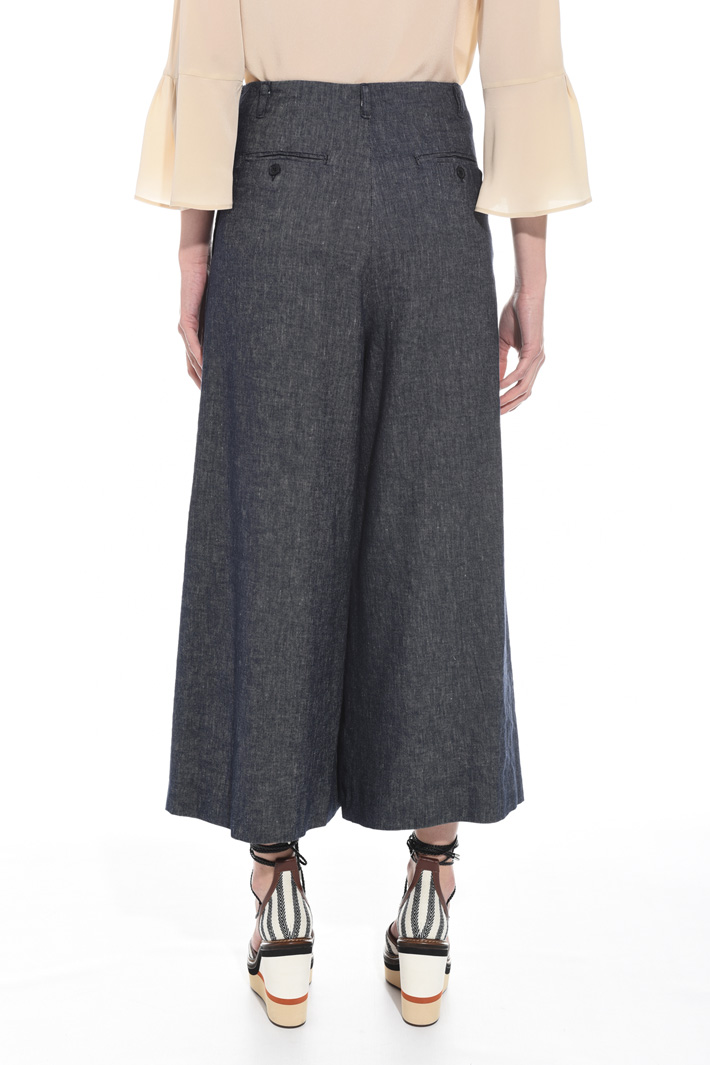 Wide trousers with splits  Intrend