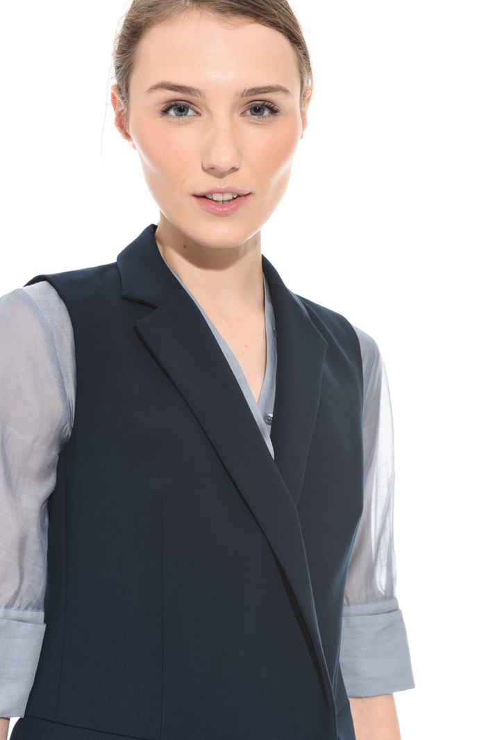 Compact fabric vest Intrend