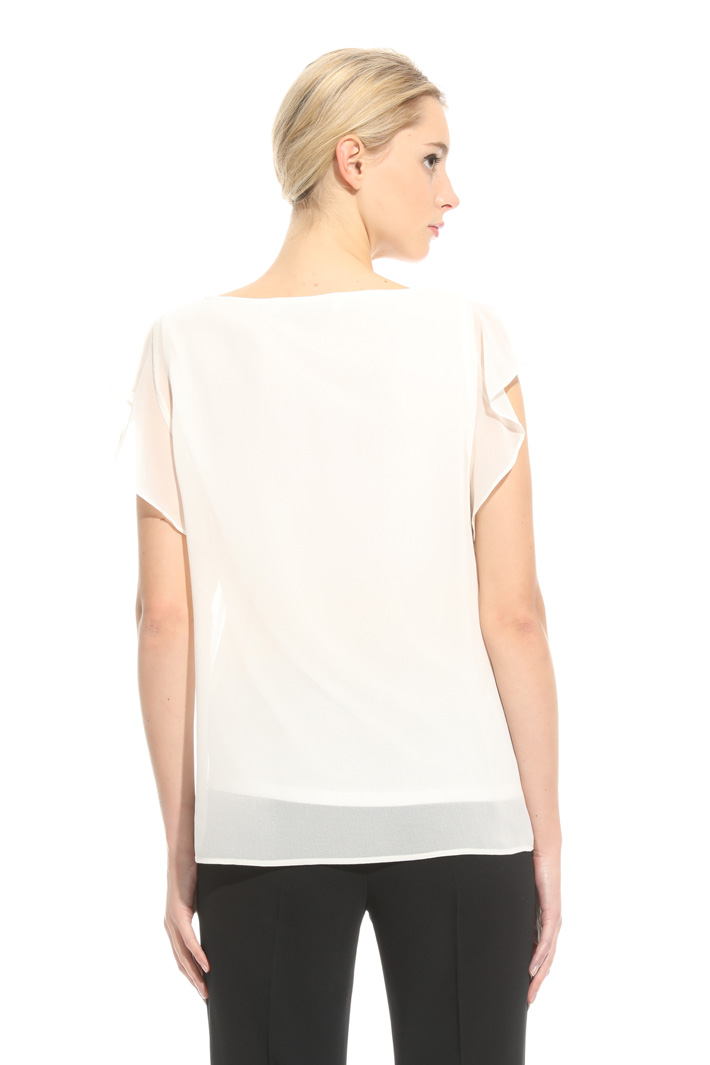 Flounced crepe top Intrend
