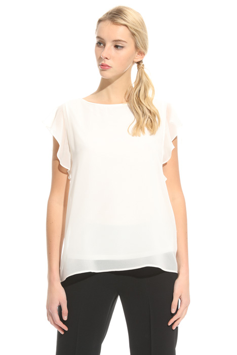 Top in crepe con ruches Intrend