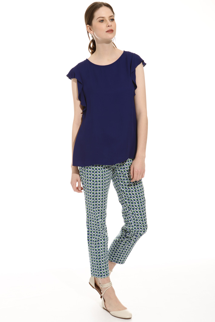 Lined crepe top Intrend