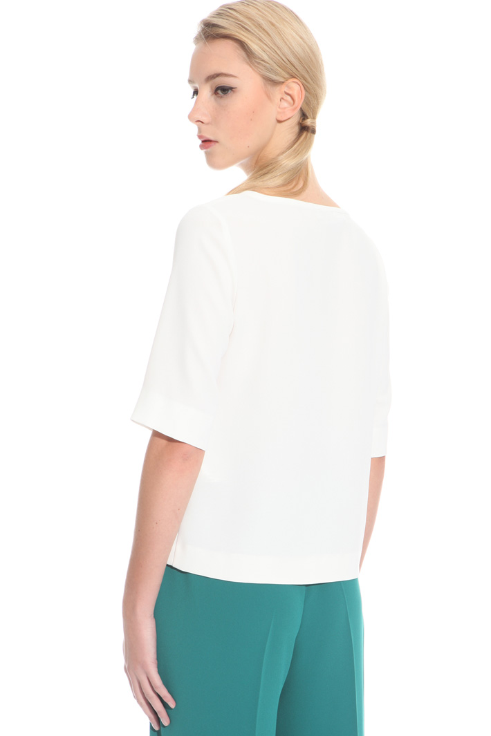 Boxy envers satin top Intrend