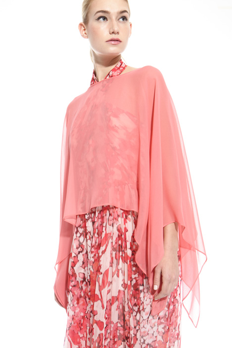Silk georgette cape Intrend