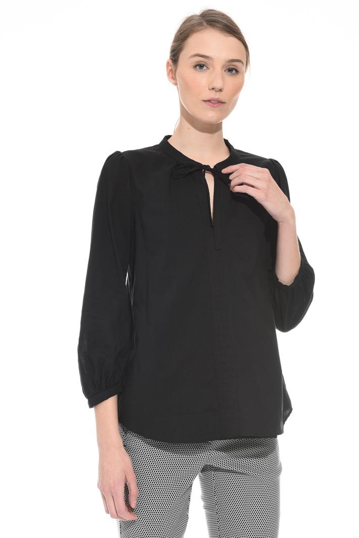 Cotton canvas blouse Intrend