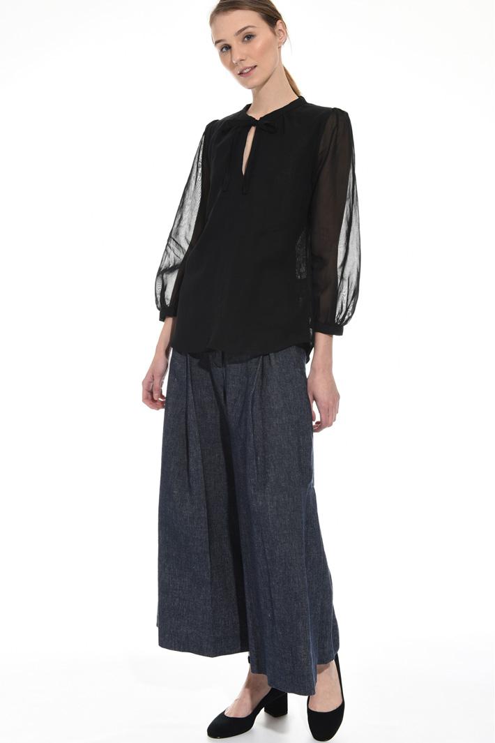 Cotton organza blouse Intrend