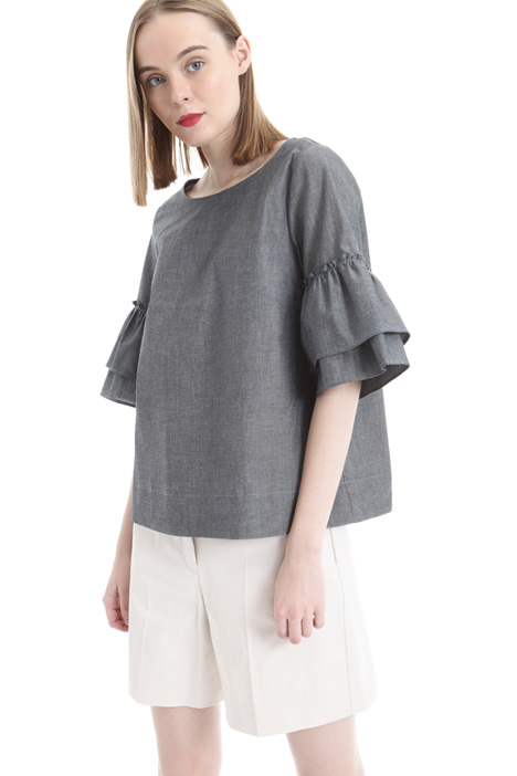 Top in canvas di cotone Intrend