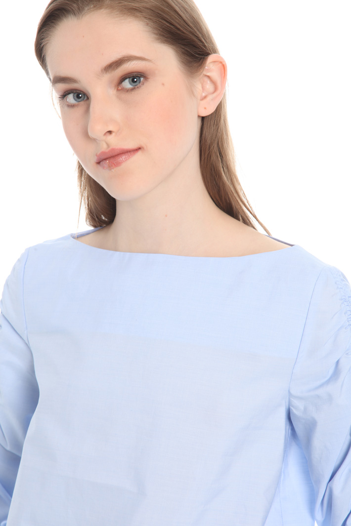 Frilled sleeve shirt Intrend