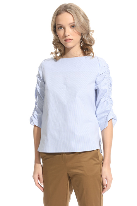 Ruched sleeve tunic Intrend