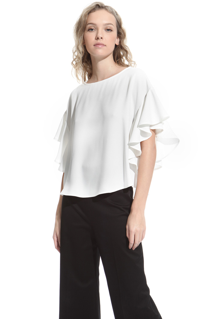 Flounced sleeve blouse Intrend
