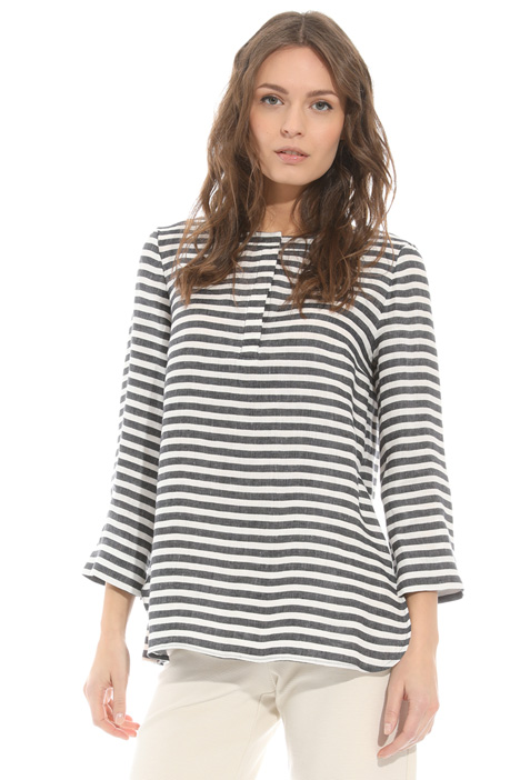 Striped linen tunic Intrend