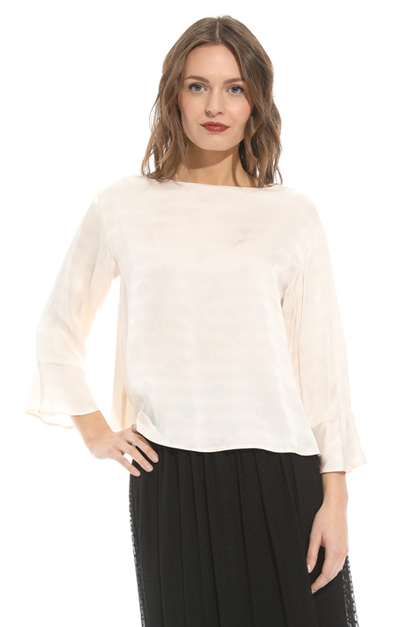 Blusa in satin di viscosa Intrend