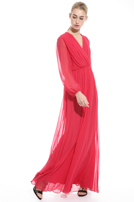 Long dress in pure silk Intrend