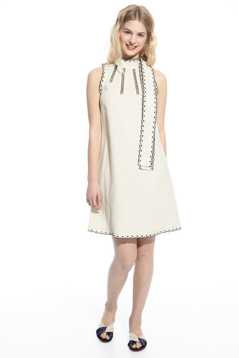 Scalloped trim dress Diffusione Tessile