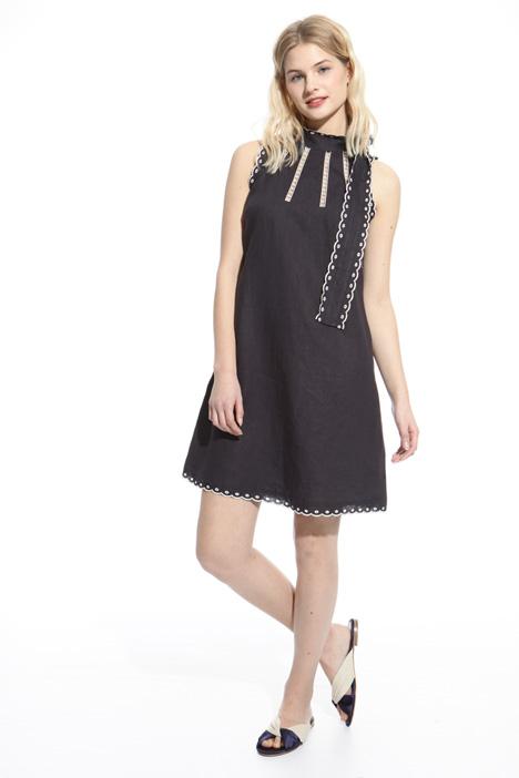 Scalloped trim dress Diffusione Tessile