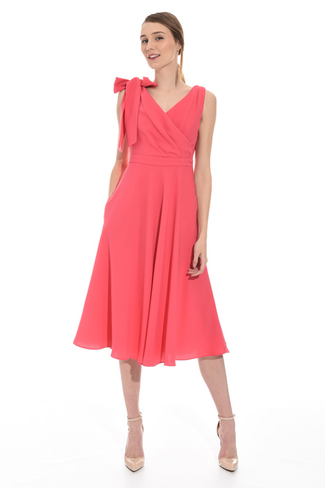 Midi dress in envers satin Diffusione Tessile