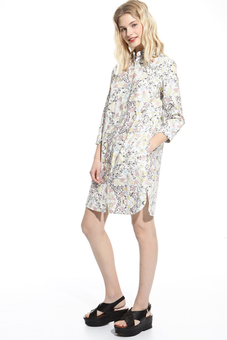Printed poplin dress Diffusione Tessile