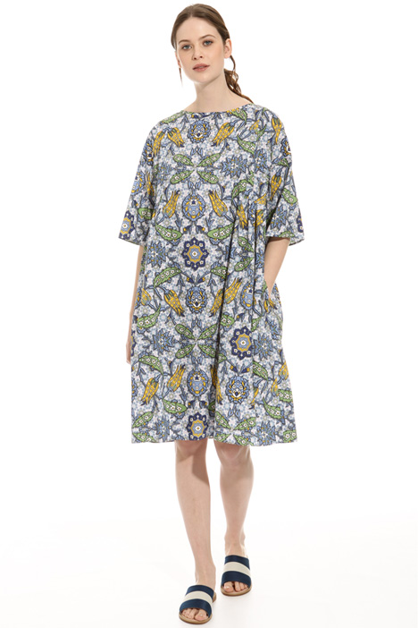 Loose-fit printed dress Diffusione Tessile