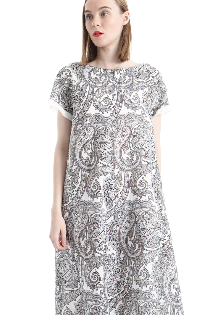 Printed linen dress Intrend