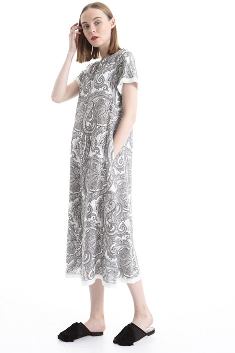 Printed linen dress Diffusione Tessile