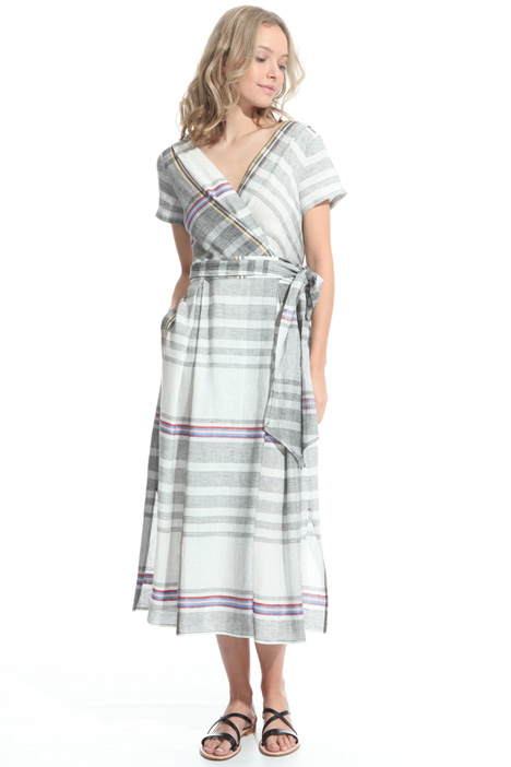 Checked wrap-up dress Diffusione Tessile