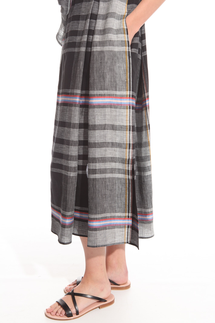 Checked wrap-up dress Intrend
