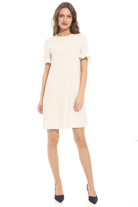 Frilled sleeve dress Diffusione Tessile