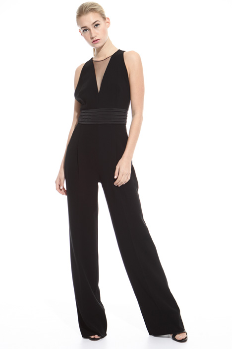 Satin and cady jumpsuit Intrend