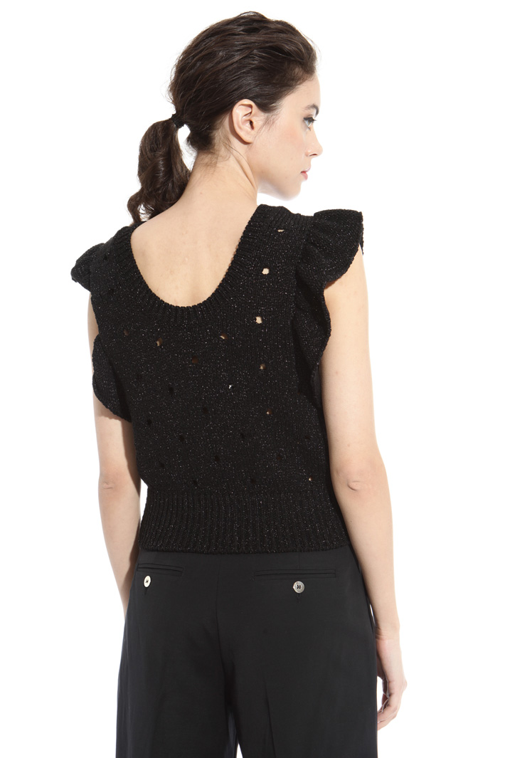 Knitted lurex gilet Intrend