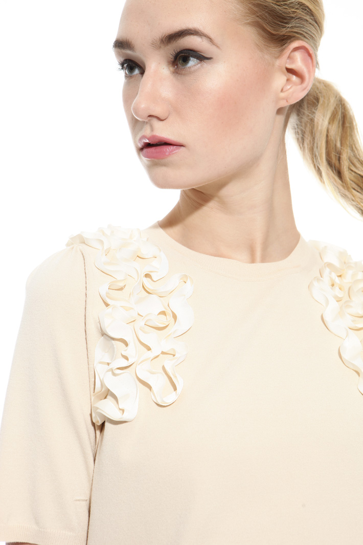 Grosgrain embroidered sweater Intrend