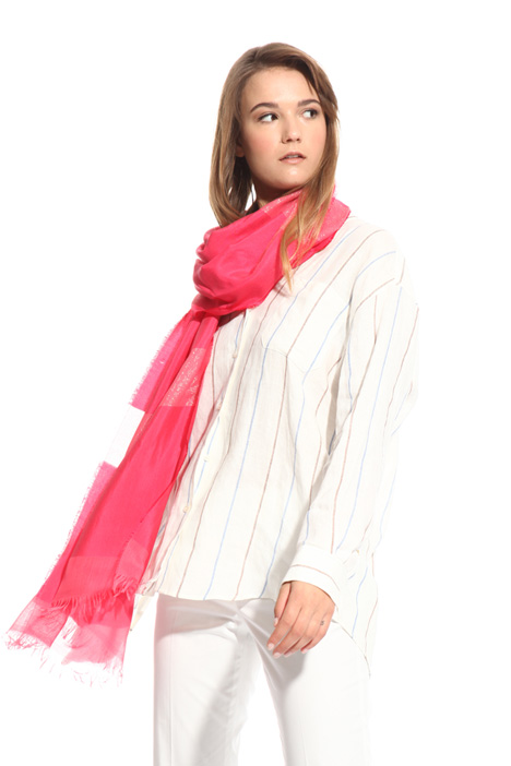 Stole with lurex stripes  Intrend