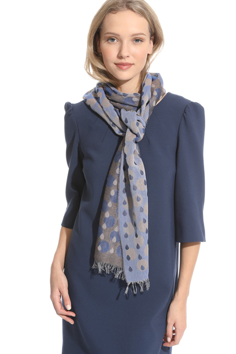 Cotton blend jacquard stole Intrend