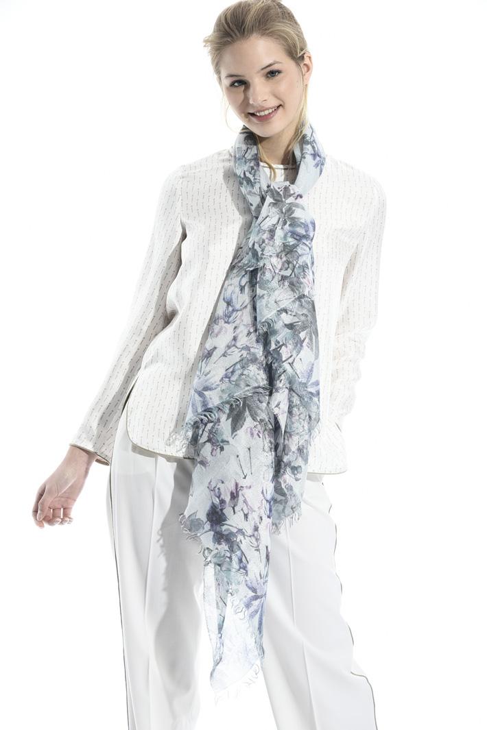 Printed lurex scarf Intrend